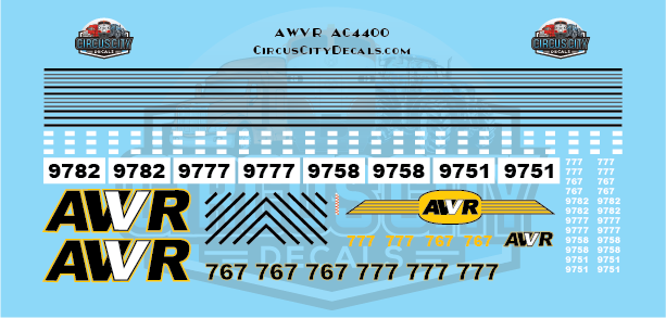 AWVR Unstoppable Movie 767/777 AC4400 N Scale