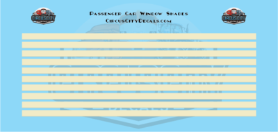 Passenger Car Window Shades Beige HO Scale