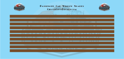 Passenger Car Window Shades Brown HO Scale