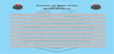 Passenger Car Window Shades Gray HO Scale