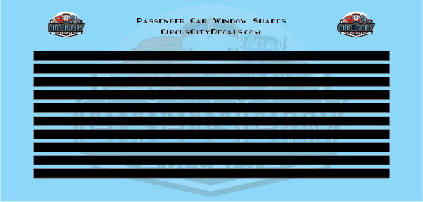 Passenger Car Window Shades Black HO Scale