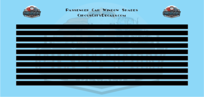 Passenger Car Window Shades Black HO Scale