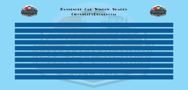Passenger Car Window Shades Blue HO Scale