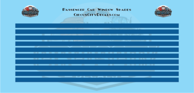 Passenger Car Window Shades Blue HO Scale