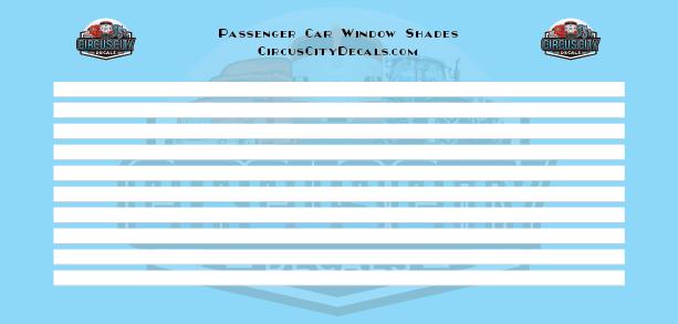 Passenger Car Window Shades White HO Scale