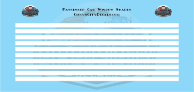 Passenger Car Window Shades White HO Scale