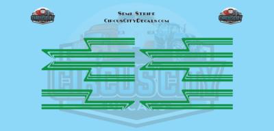 Green Semi Stripe Graphic 1:64 Scale