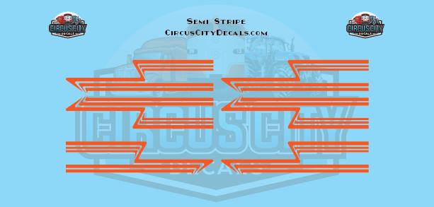 Orange Semi Stripe Graphic 1:64 Scale