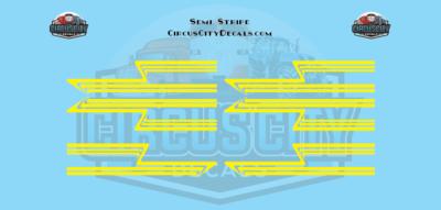Yellow Semi Stripe Graphic 1:64 Scale