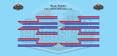 Red Purple Blue Semi Stripe Graphic 1:64 Scale