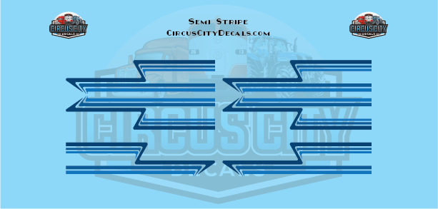 Blue Semi Stripe Graphic 1:64 Scale