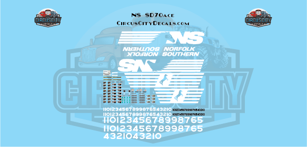 Norfolk Southern SD70ace G Scale Decal Set