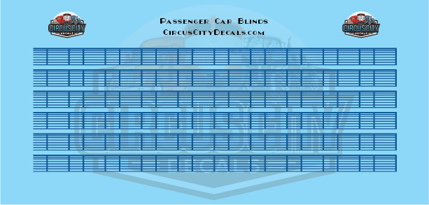 Venetian Blinds Blue O Scale