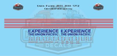 Union Pacific Promontory Experience Baggage Car N Decals UP UPRR Heritage Fleet 5752 Power Car 2066 2055