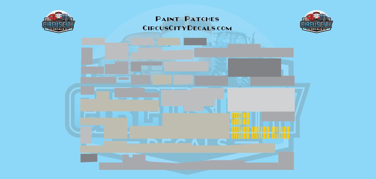 Paint Patch Set Gray HO Scale
