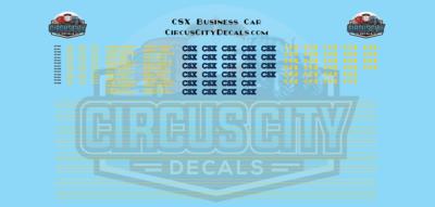 CSX Retro B&O Business Car N Scale Decal Set