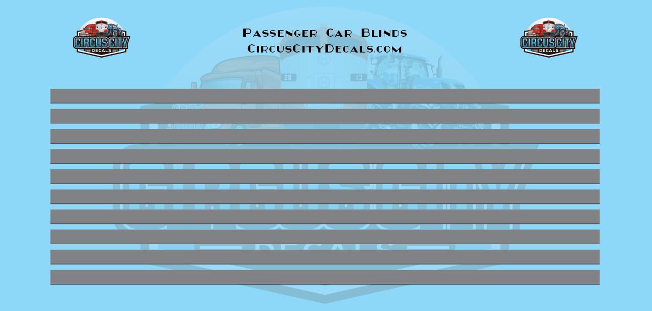 Passenger Car Window Shades Dark Gray HO Scale