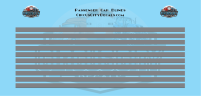 Passenger Car Window Shades Dark Gray HO Scale