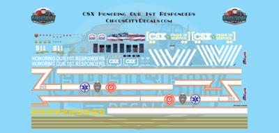 CSX ES44AH Honoring Our 1st Responders N Scale Decal Set ES44