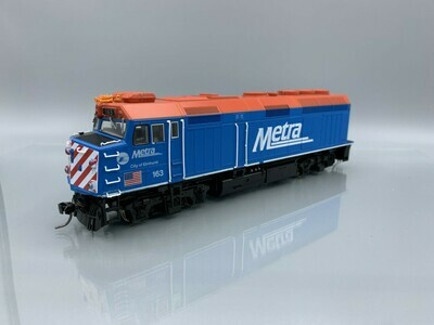 Kato HO EMD F40PH Chicago METRA with Ditch Lights #163