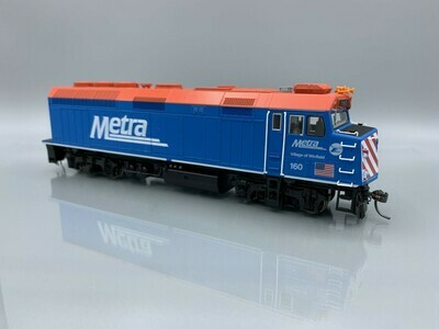 Kato HO EMD F40PH Chicago METRA with Ditch Lights #160