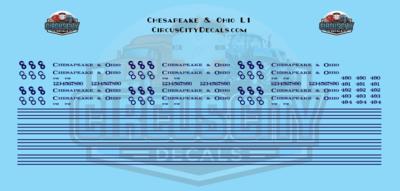 Chesapeake & Ohio L1 N Scale Decals