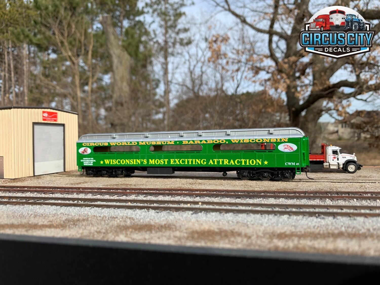Circus Train CWM 45 Open Air/Fan Car Sides HO Scale Walthers ACF Heavyweight Baggage 1 Pair