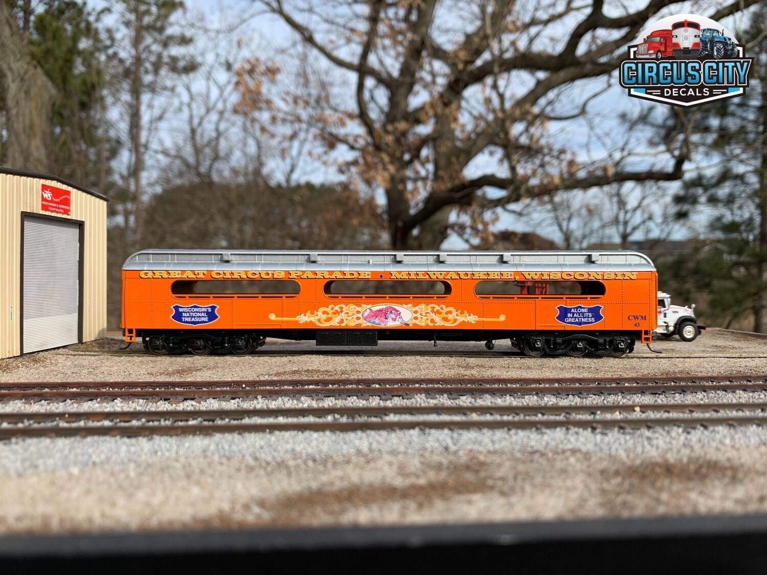 Circus Train CWM 43 Open Air/Fan Car Sides HO Scale Walthers ACF Heavyweight Baggage 1 Pair
