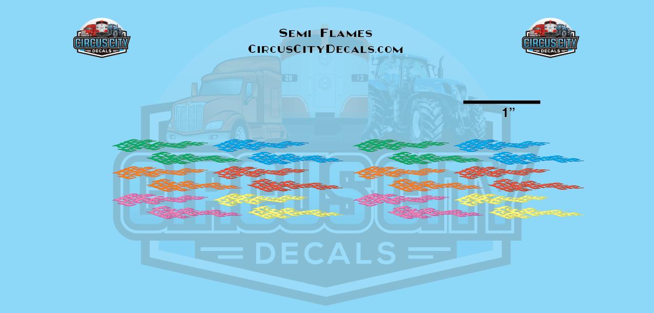 Semi Flames Graphic 1:160 Scale