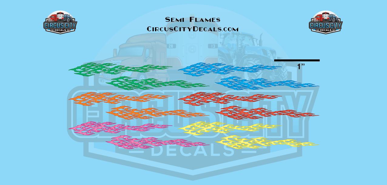 Semi Flames Graphic 1:87 Scale