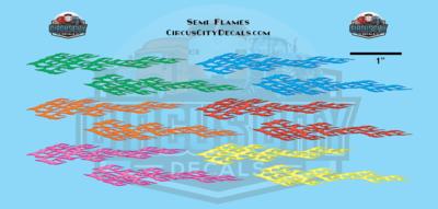 Semi Flames Graphic 1:64 Scale