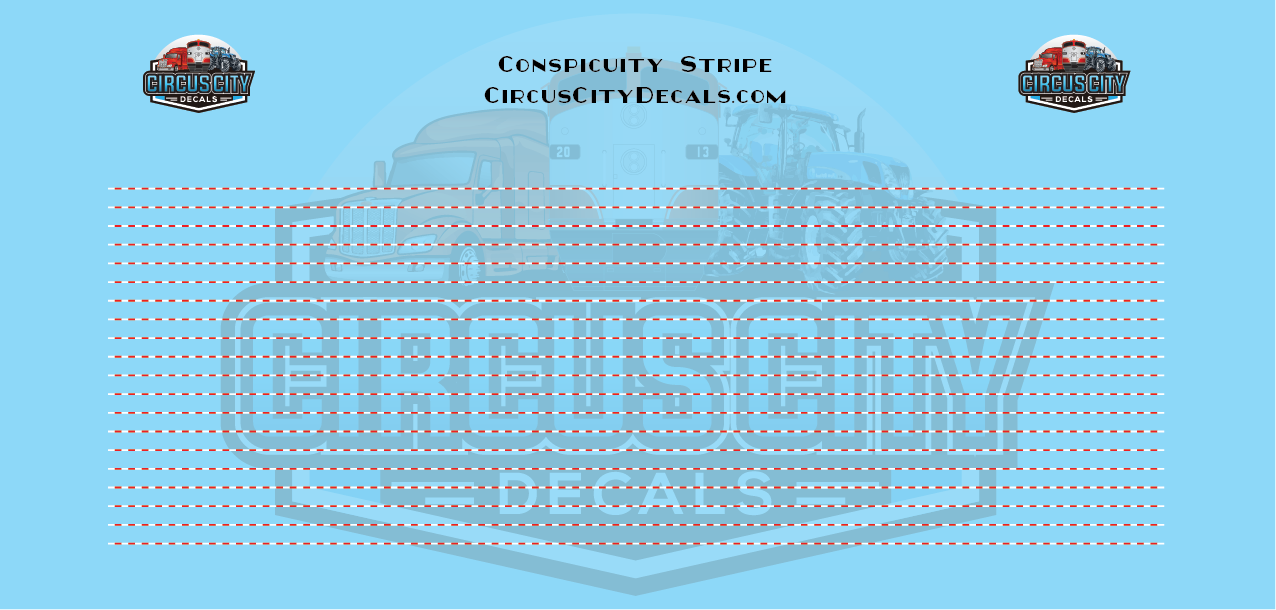 Conspicuity Stripe for N Scale Vehicles