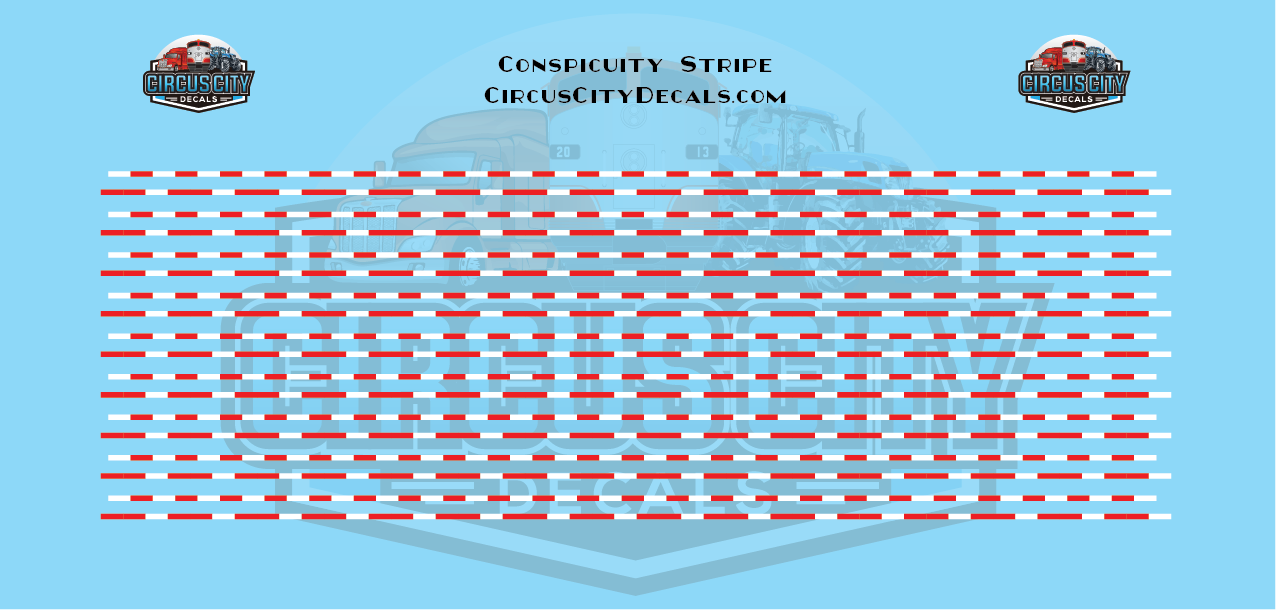 Conspicuity Stripe for O Scale Vehicles 1:48