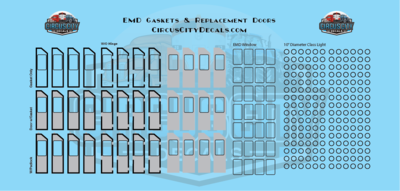 EMD GP & SD Class Light Gaskets & Replacement Door Decals HO Scale
