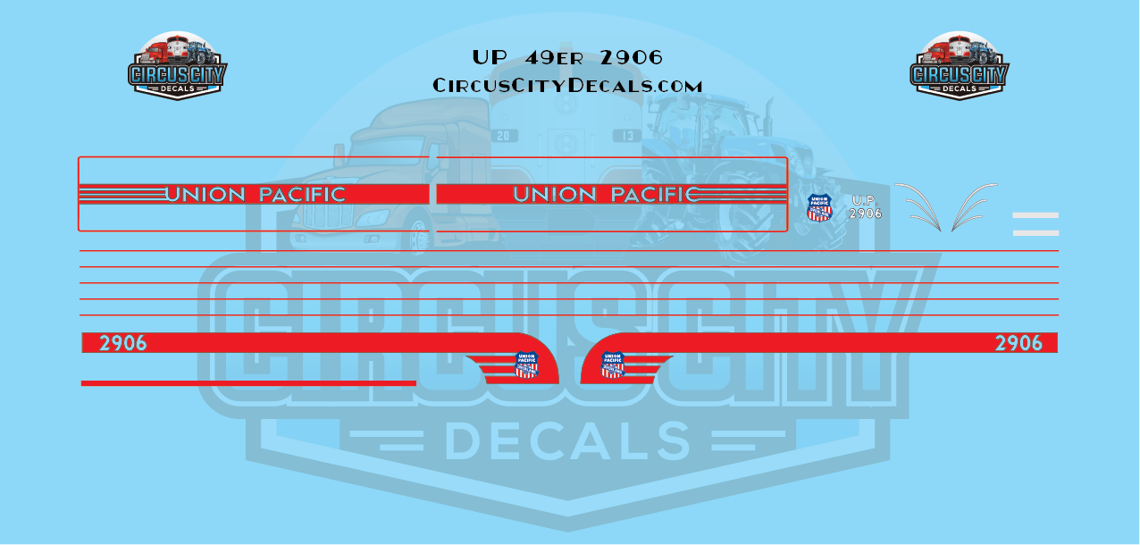Union Pacific 49er N Scale Decals