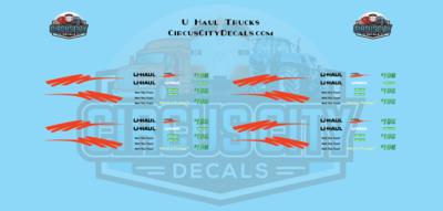 UHaul RPS Pickup Truck Decal Set S Scale