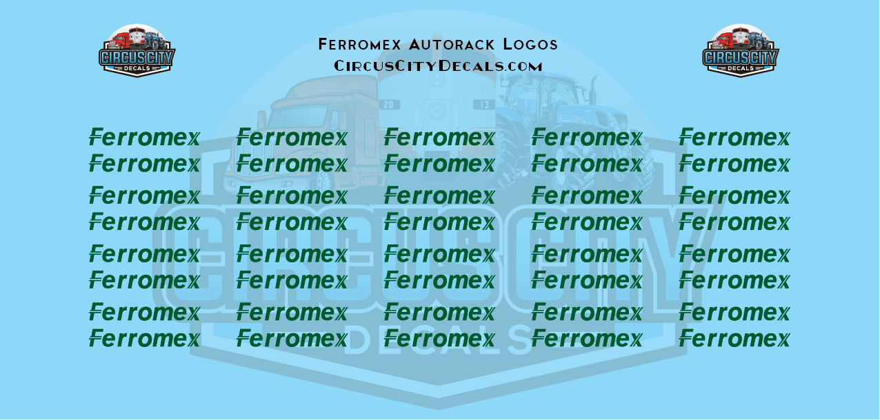 Ferromex Autorack HO Scale Decal Set
