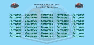 Ferromex Autorack N Scale Decal Set