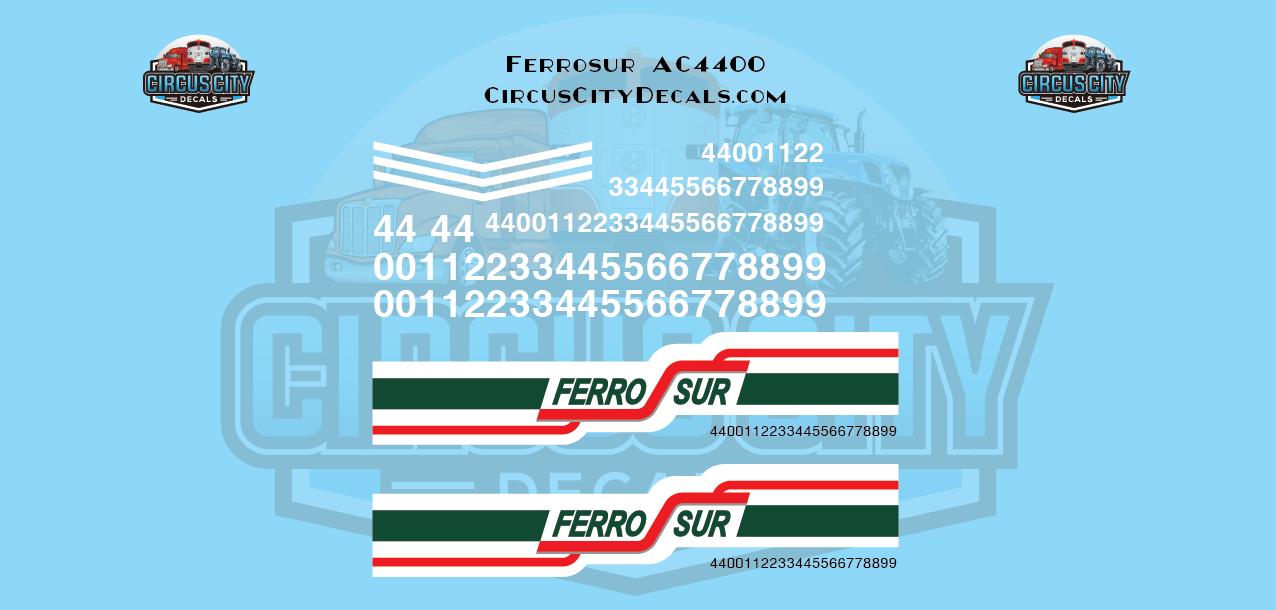 FerroSur Ferro Sur AC4400 Decals N Scale