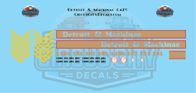 Detroit & Mackinac C425 O scale Decal Set