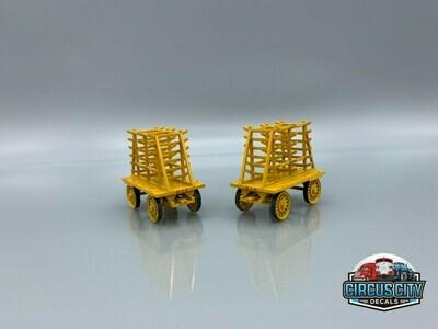 Pole Wagon #211 & #212 BUILT UP HO Scale Circus (Qty 2)