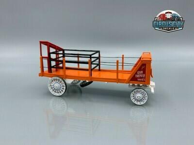 Adam Forepaugh Shows Stringer Wagon BUILT UP HO Scale Model
