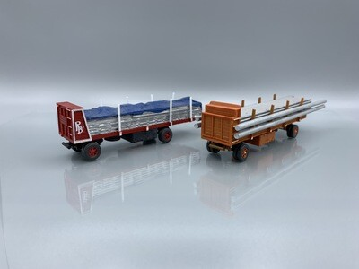 2 Walthers Wagons Pole & Stringer BUILT UP HO Scale Models