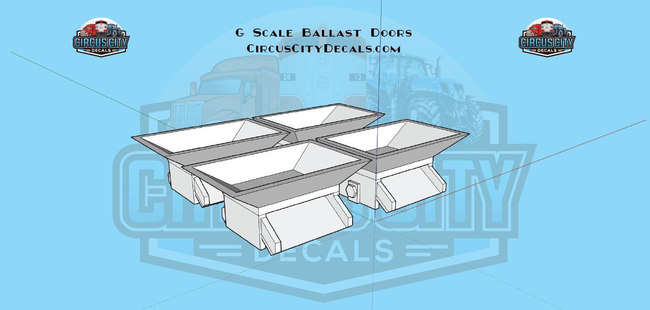 G Scale Ballast Door Kit Roundhouse 2 Bay Open Hopper