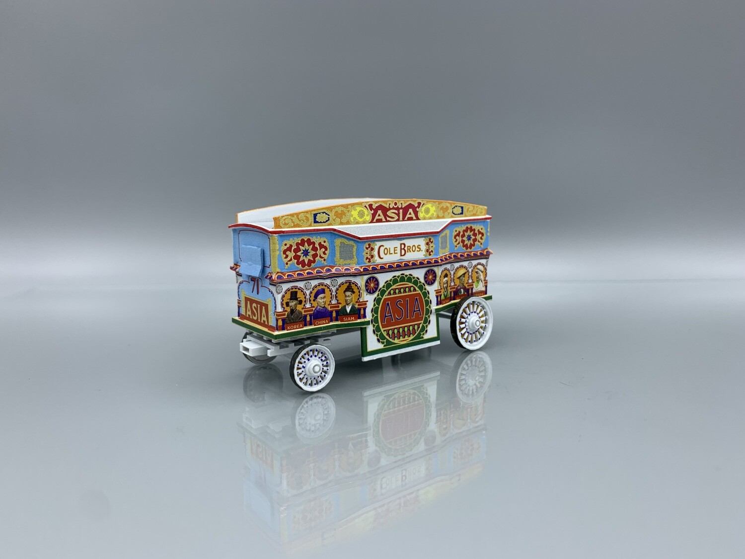 Asia Tableau Cole Brothers Circus Wagon Built-Up HO Scale