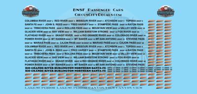BNSF Business Car HO Scale Decal Set