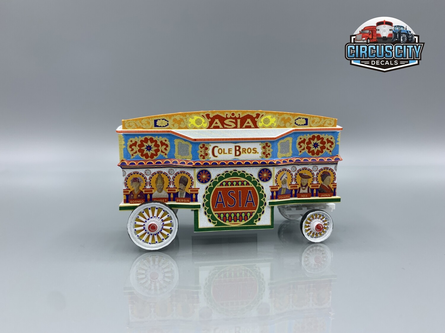 Asia Tableau Cole Brothers Circus Wagon Kit HO Scale