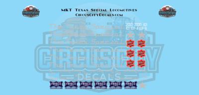 The Texas Special MKT KATY Frisco E7 2000 101 101A G Scale Decal Set