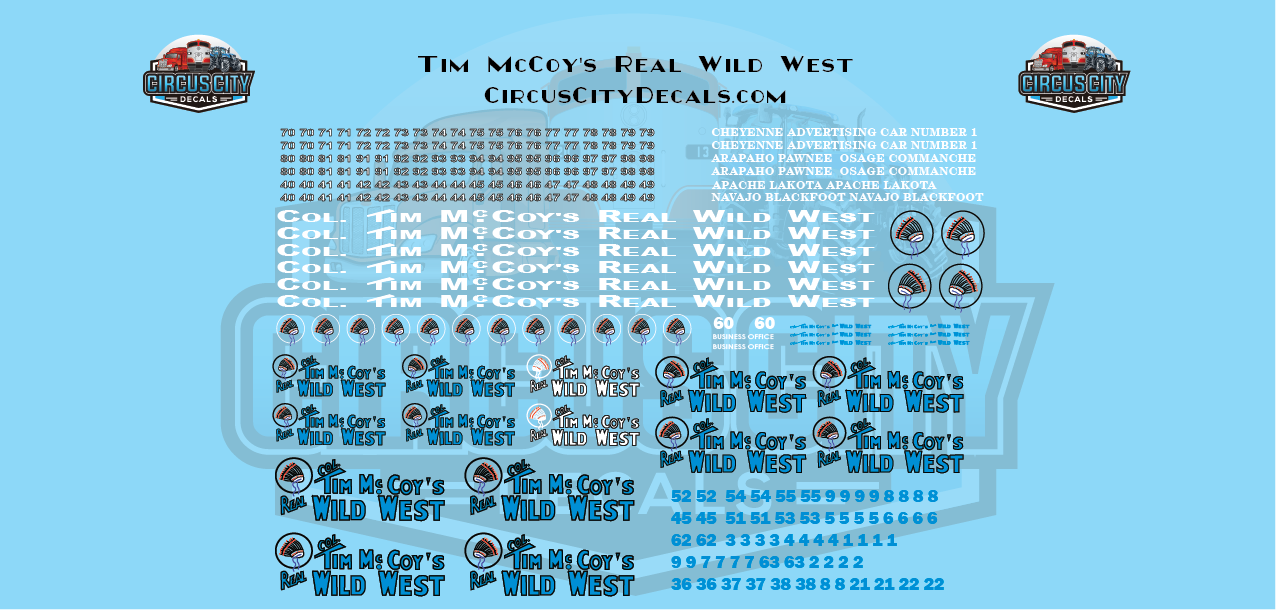 Tim McCoys Real Wild West HO Scale Decal Set
