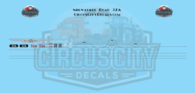 Milwaukee Road E9 32A N Scale Decal Set